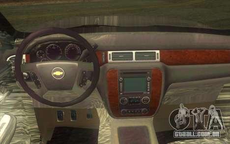 Chevrolet Cheyenne LT 2012 para GTA San Andreas vista interior