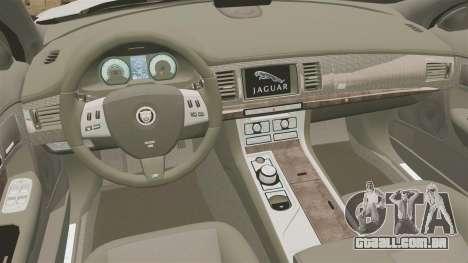 Jaguar XFR 2010 British Police [ELS] para GTA 4 vista interior