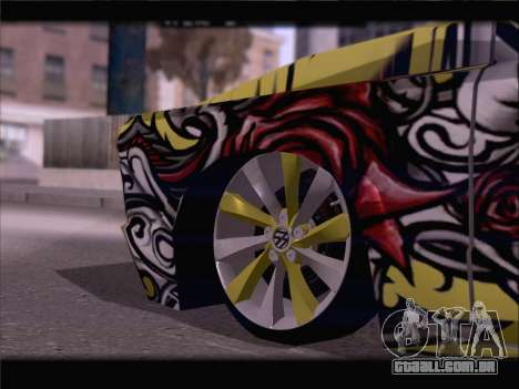 New Slamvan para GTA San Andreas vista inferior