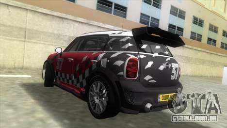 Mini Countryman WRC para GTA Vice City deixou vista