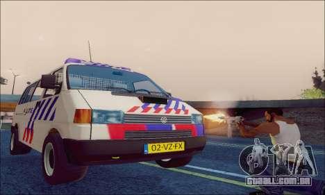 Volkswagen T4 Politie para GTA San Andreas vista interior