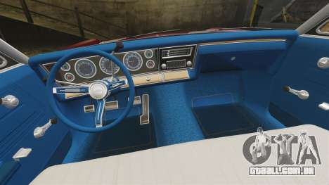 Chevrolet Impala 1967 para GTA 4 vista interior