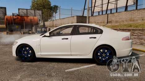 Jaguar XFR 2010 Police Unmarked [ELS] para GTA 4 esquerda vista