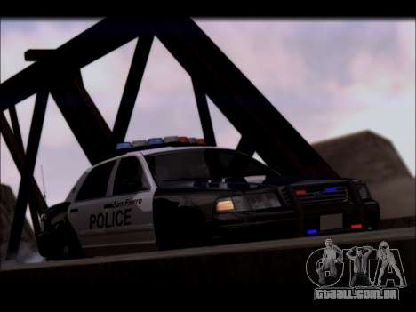 Ford Crown Victoria 2005 Police para GTA San Andreas vista interior