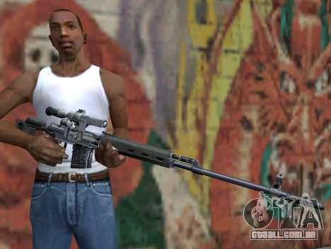 Rifle sniper de STALKER para GTA San Andreas terceira tela