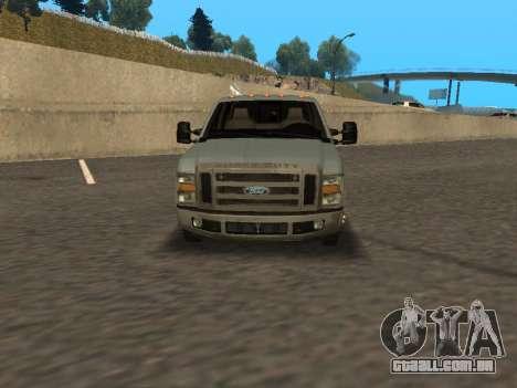 Ford F-350 para GTA San Andreas traseira esquerda vista