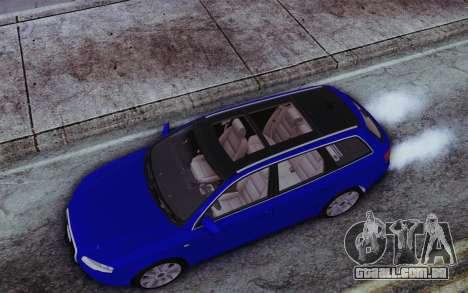 Audi A4 2005 Avant 3.2 Quattro Open Sky para GTA San Andreas vista traseira