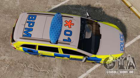 Audi Q7 Metropolitan Police [ELS] para GTA 4 vista direita