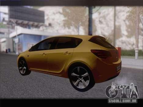Opel Astra J 2011 para GTA San Andreas vista direita