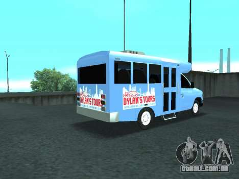 Ford Shuttle Bus para GTA San Andreas traseira esquerda vista