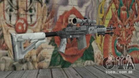 M14 EBR Ártico para GTA San Andreas segunda tela
