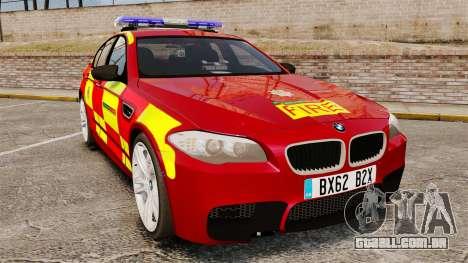 BMW M5 West Midlands Fire Service [ELS] para GTA 4