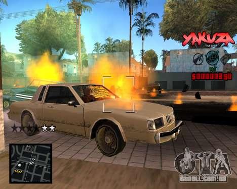 C-HUD Yakuza para GTA San Andreas terceira tela