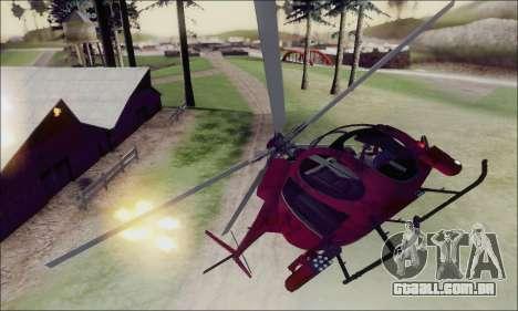Helicóptero de ataque do abutre de GTA 5 para GTA San Andreas vista superior