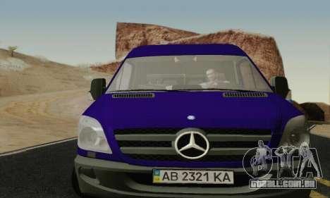 Mersedes-Benz Sprinter para GTA San Andreas esquerda vista