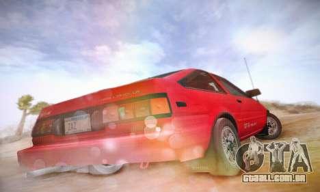 Toyota Corolla GT-S 1985 para GTA San Andreas vista traseira