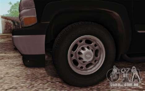 Chevrolet Suburban FBI para GTA San Andreas vista direita