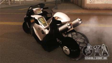 CopBike Alien City para GTA San Andreas esquerda vista