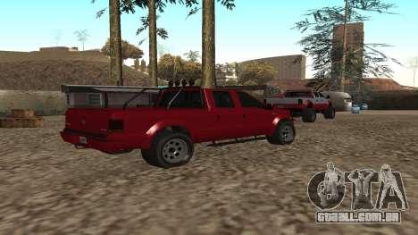 Sadler de GTA 5 para GTA San Andreas traseira esquerda vista