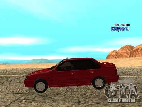 VAZ 2115 táxi para GTA San Andreas esquerda vista