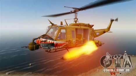 Bell UH-1 Iroquois v2.0 Gunship [EPM] para GTA 4 vista superior