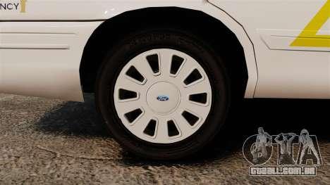 Ford Crown Victoria 2011 LCSHP [ELS] para GTA 4 vista de volta