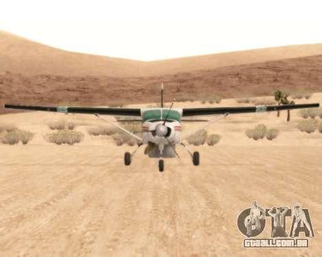 Cessna 208B Grand Caravan para GTA San Andreas vista traseira