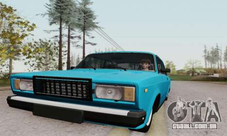 VAZ 2107 Coupe para GTA San Andreas vista interior