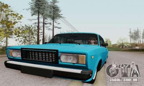 VAZ 2107 Coupe para GTA San Andreas vista interior