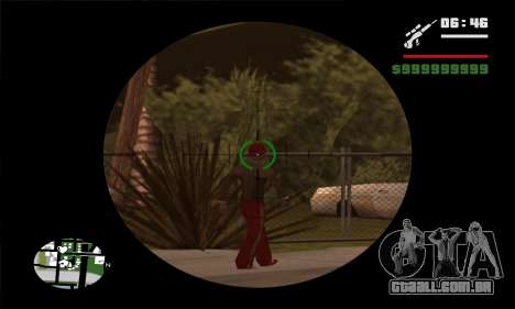 GTA V Sniper Scope para GTA San Andreas segunda tela