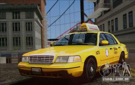 Ford Crown Victoria LA Taxi para GTA San Andreas vista direita