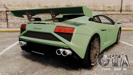 Lamborghini Gallardo 2013 v2.0 para GTA 4 traseira esquerda vista