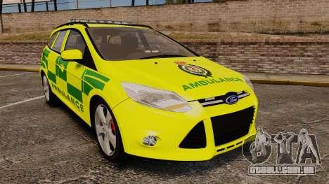 Ford Focus ST Estate 2012 [ELS] London Ambulance para GTA 4
