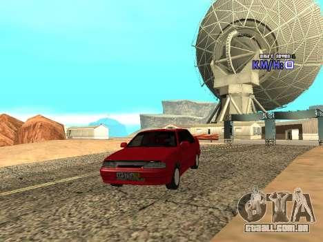 VAZ 2115 táxi para GTA San Andreas vista traseira