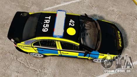 Mitsubishi Lancer Evolution X Uk Police [ELS] para GTA 4 vista direita
