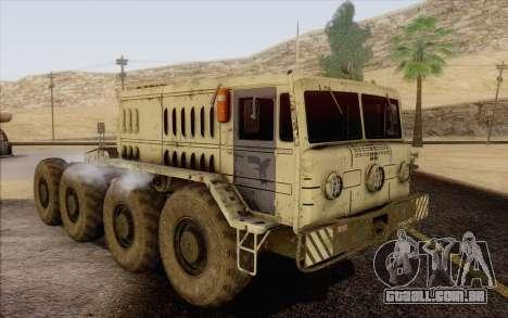 MAZ 535 branco para GTA San Andreas