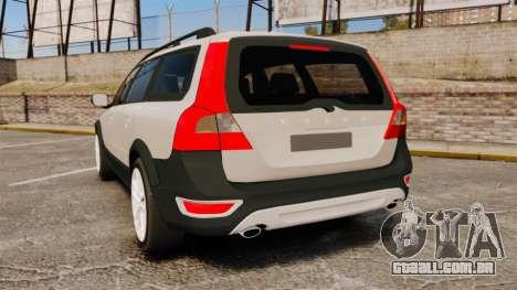 Volvo XC70 Stock para GTA 4 traseira esquerda vista