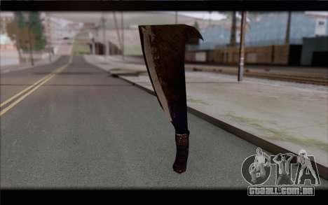 Facão para GTA San Andreas segunda tela
