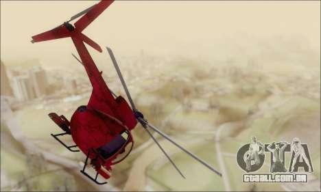 Helicóptero de ataque do abutre de GTA 5 para GTA San Andreas vista direita