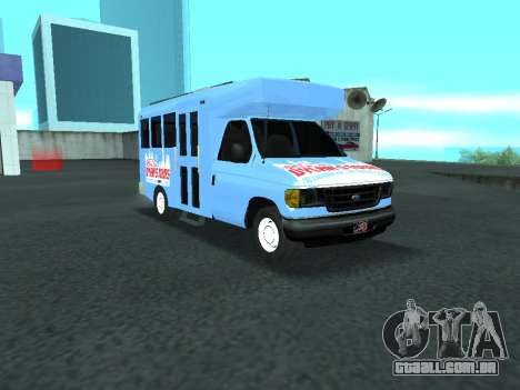 Ford Shuttle Bus para GTA San Andreas vista interior