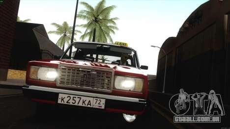VAZ 2107 Bombilla para GTA San Andreas vista traseira