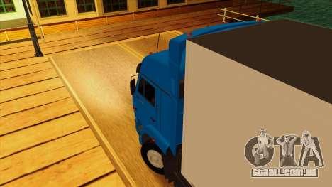 KAMAZ 5410 para GTA San Andreas vista interior