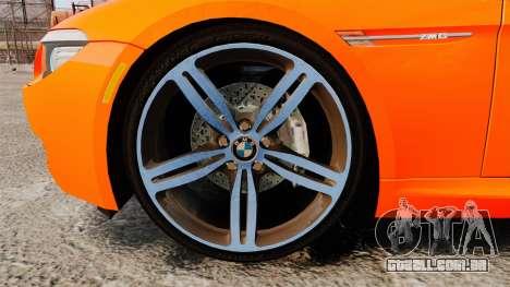 BMW M6 para GTA 4 vista de volta