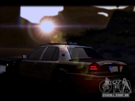 Ford Crown Victoria 2005 Police para GTA San Andreas vista inferior