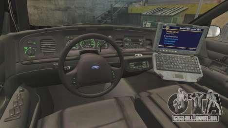 Ford Crown Victoria 1999 LCPD para GTA 4 vista de volta