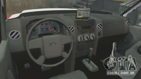Ford F-350 FDNY Ambulance [ELS] para GTA 4 vista de volta