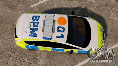 Seat Cupra Metropolitan Police [ELS] para GTA 4 vista direita