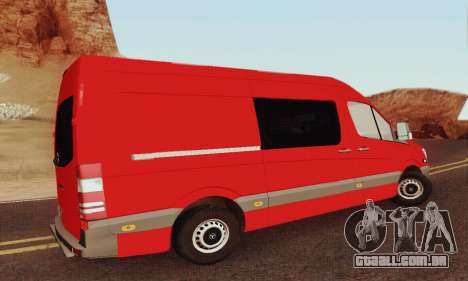 Mersedes-Benz Sprinter para GTA San Andreas vista interior