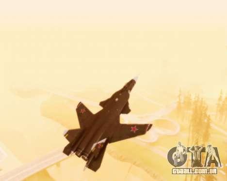 Su-47 Berkut v 1.0 para GTA San Andreas vista superior