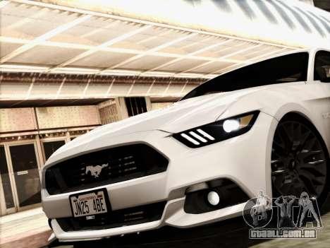 Ford Mustang GT 2015 v2 para GTA San Andreas traseira esquerda vista